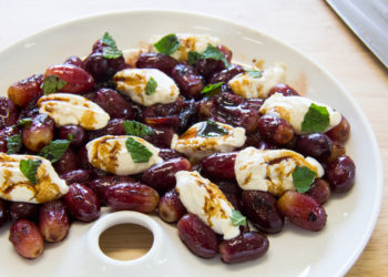 whipped-ricotta-with-ginger-grapes