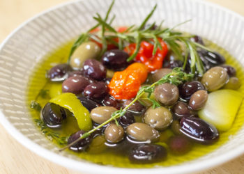 Baked Marinated Olives