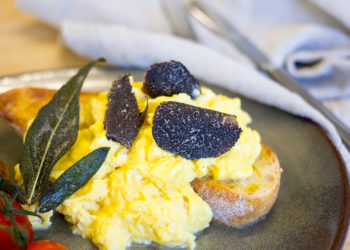 Raclette Scrambled Eggs With Tasmania Truffles