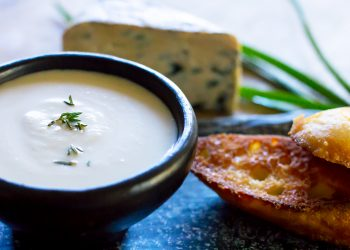 Blue Cheese and cauliflower Soup