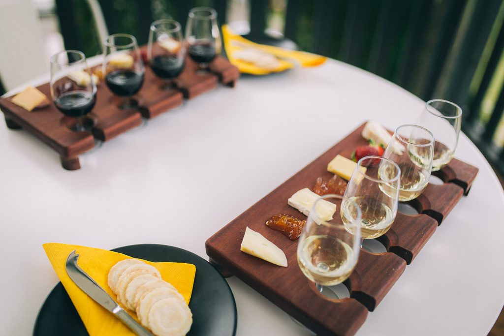 Cheese and Wine flights