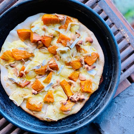 This Roasted Pumpkin, Camembert and Cashew Pizza